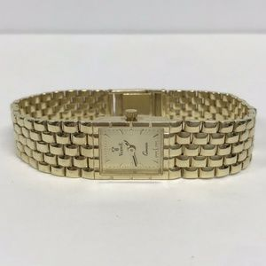 14K Yellow Gold Vicence Panther Link Ladies Watch